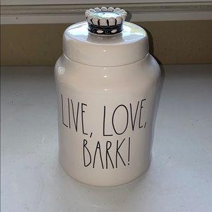 NEW Rae Dunn LIVE, LOVE, BARK! Canister